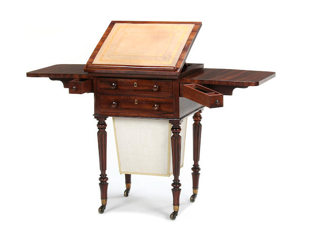 A William IV goncalo alves work table by Gillows of Lancaster