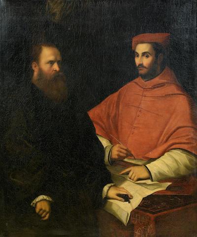 After Girolamo Sellari, called Girolamo da Carpi, circa 1600 Portrait of Cardinal Ippolito de' Medici and Monsignor Mario Bracci