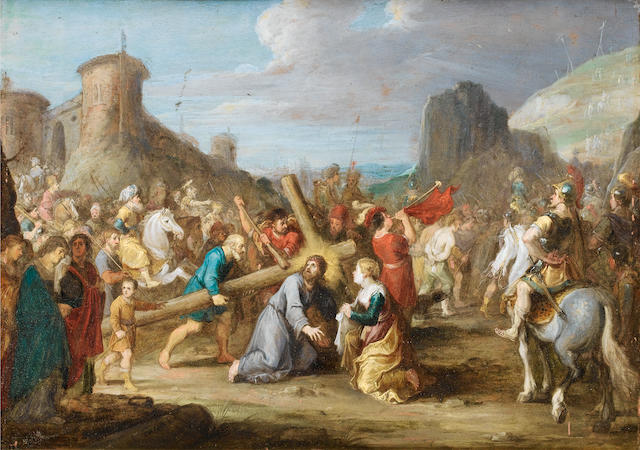 Isabella Francken (Antwerp, active 1631) The Road to Calvary