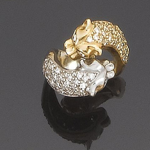 A diamond novelty ring