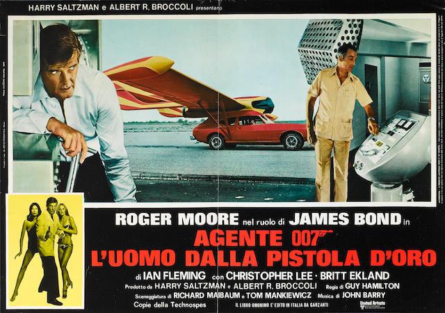 A 'James Bond Agente 007 - L'Uomo Dalla Pistola D'Oro', original cinema advertising poster,