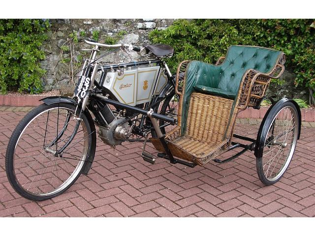 1903 Excelsior 550cc Motorcycle with Wicker Sidecar   Frame no. 67839 Engine no. MMC3384