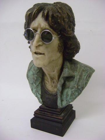John Somerville: a bust of John Lennon, 1980s,