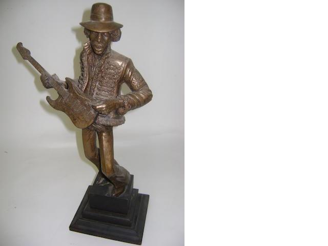 John Somerville: a sculpture of Jimi Hendrix,