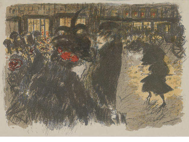 Pierre Bonnard (French, 1867-1947) Boulevard Lithograph, 1899, from the series 'some Scenes of Paris