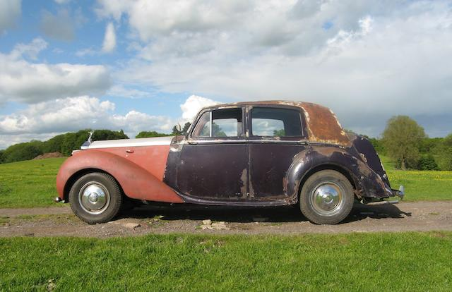 Left-hand drive,1949 Rolls-Royce Silver Dawn Saloon  Chassis no. LSBA14 Engine no. LSBA74