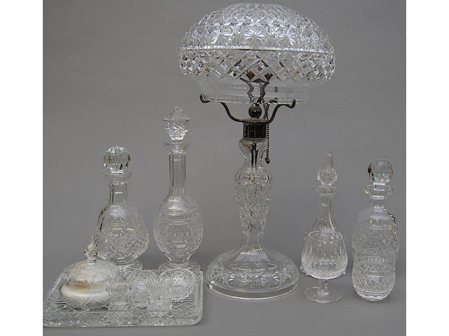 A quantity of Waterford and cut glass items