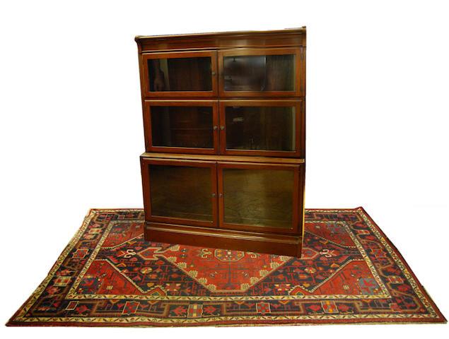 A mahogany Globe Wernicke-style 'Oxford' stacking bookcase