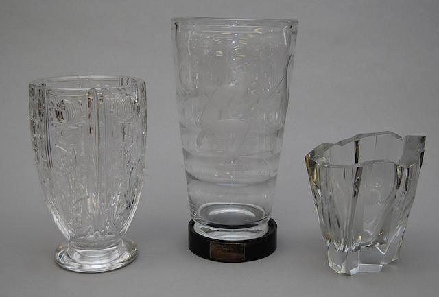 An Orrefors Lindstrand vase
