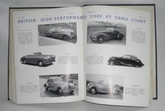 A 1948 volume of Motor Sport Magazine,