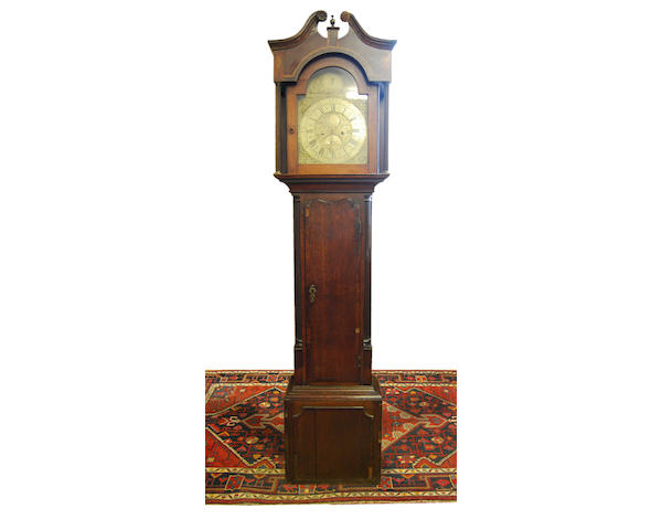 A George III and later oak-cased eight-day brass dial longcase clock Jackson, Frodsham