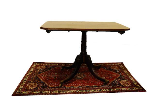 A Regency mahogany tilt-top breakfast table