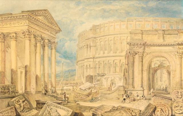 Joseph Mallord William Turner (British, 1775-1851) Antiquities of Pola