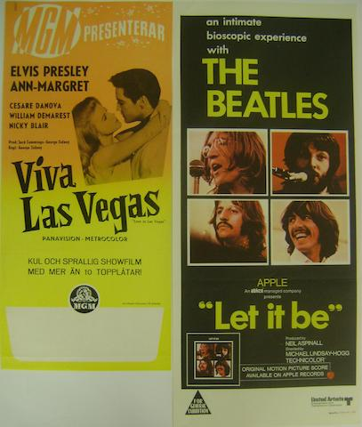 Elvis Presley and Beatles related posters, including: