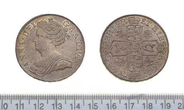 Anne, 1702-14, Crown, 1713, third draped bust left,