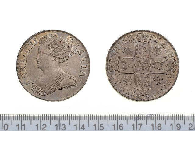 Anne, 1702-14, Crown, 1713, third draped bust left,
