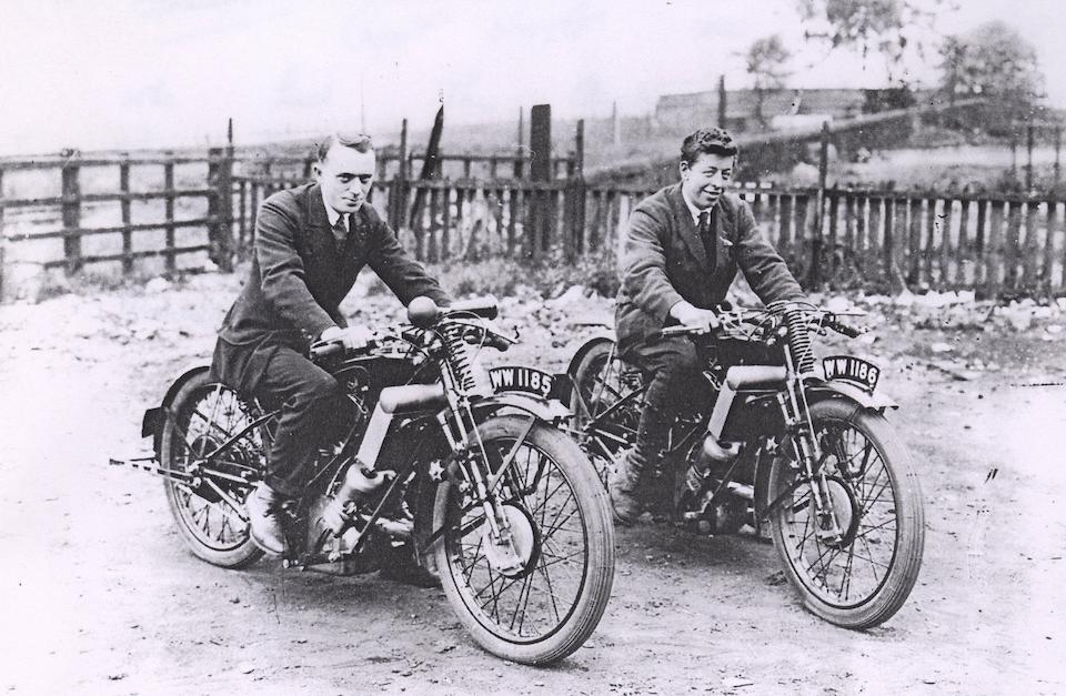 The Ex-Harry Langman, Isle of Man TT, Works,1927 Scott 498cc Racing Motorcycle  Frame no. 1927TT3 Engine no. SP HL 27
