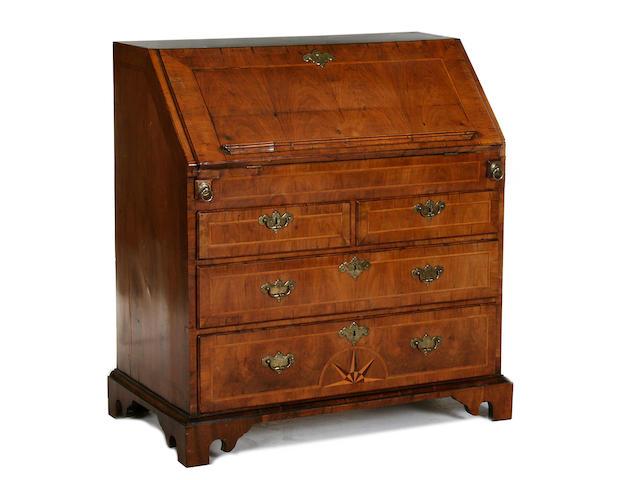 A George I walnut bureau