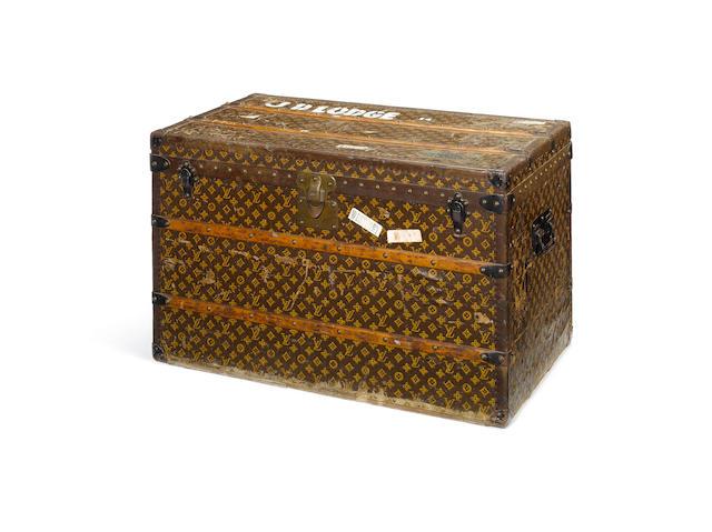 A Louis Vuitton trunk,