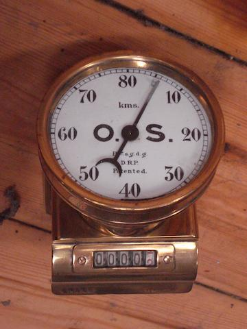 An O.S. combination speedometer and trip,