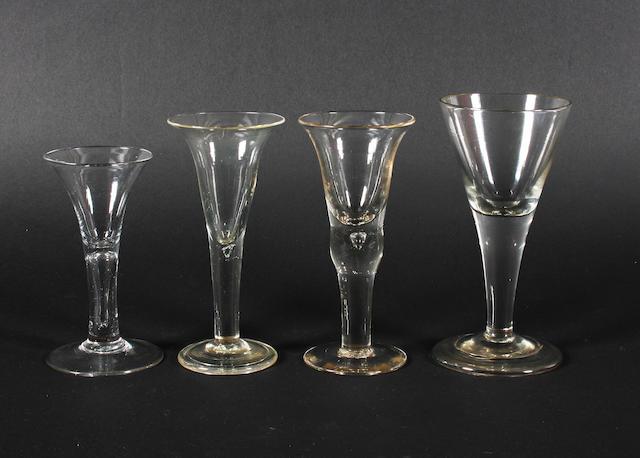 Four wine glasses