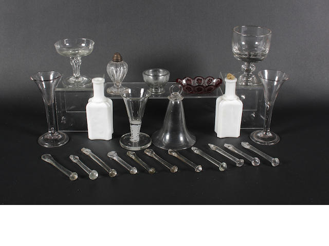 A collection of various glassware 18th/19th Century.