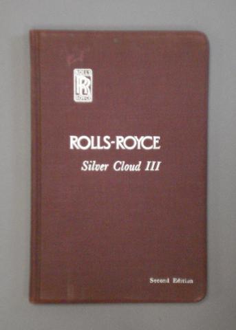 A Rolls-Royce Silver cloud III Handbook,