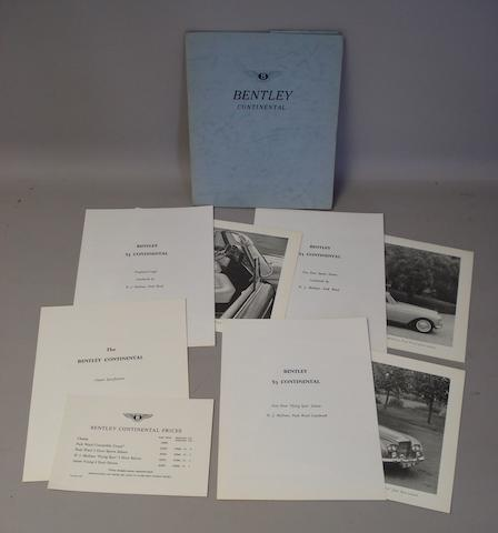 A Bentley 'S3' Continental sales brochure portfolio, 1964,