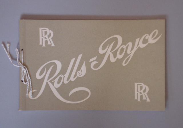 A 1906 Rolls-Royce catalogue, 1961 re-print,