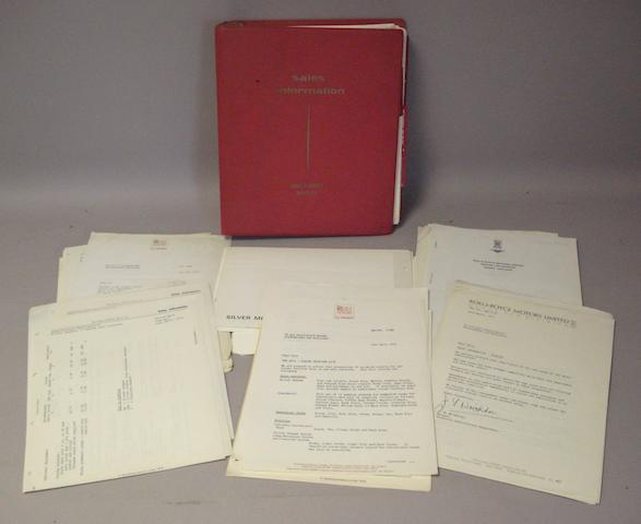 A Rolls-Royce and Bentley Sales Information Folder,
