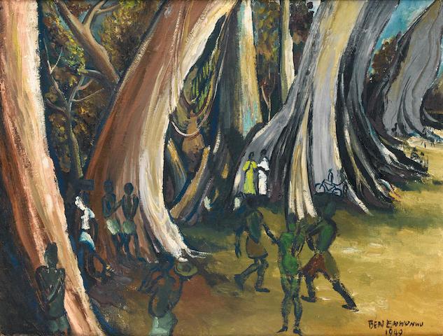 Ben (Benedict Chukwukadibia) Enwonwu, M.B.E (Nigerian, 1917-1994) Cotton trees