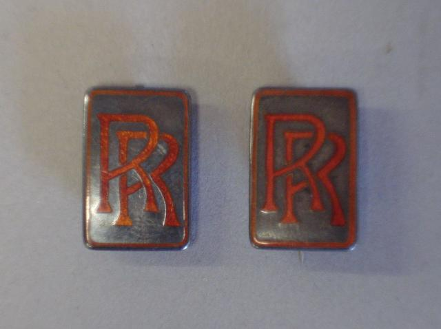 Two Rolls-Royce chauffeurs badges,