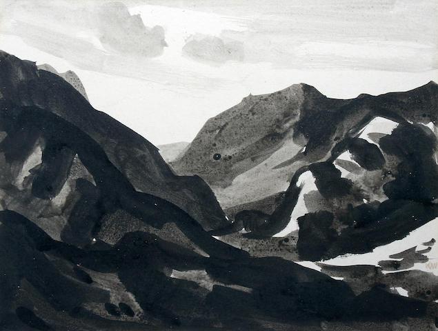 Sir Kyffin Williams, R.A. (British, 1918-2006) 'Pen yr Oleu Wen'