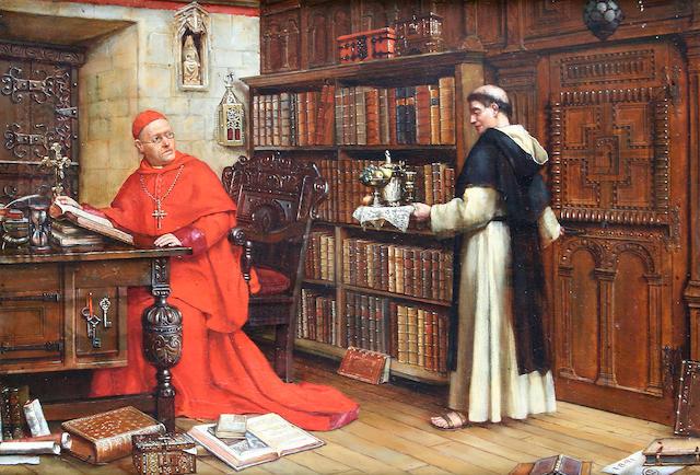 Continental School circa 1891 'The Cardinal's Break',