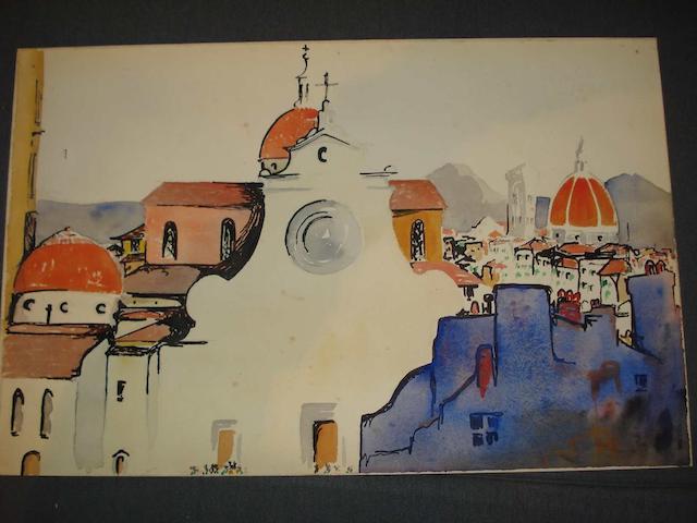 Claude Lovat Fraser (British, 1890-1921) 'Santa Spirito, Florence',