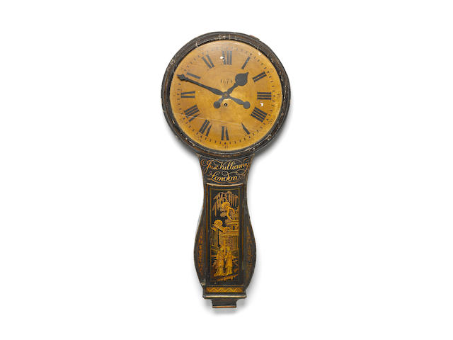 A good late 18th Century chinoiserie decorated 'Tavern Clock' Justin Vulliamy, London, the movement numbered 231