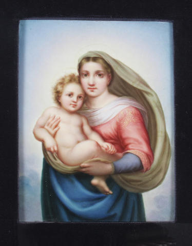 A German porcelain plaque 19th Century.