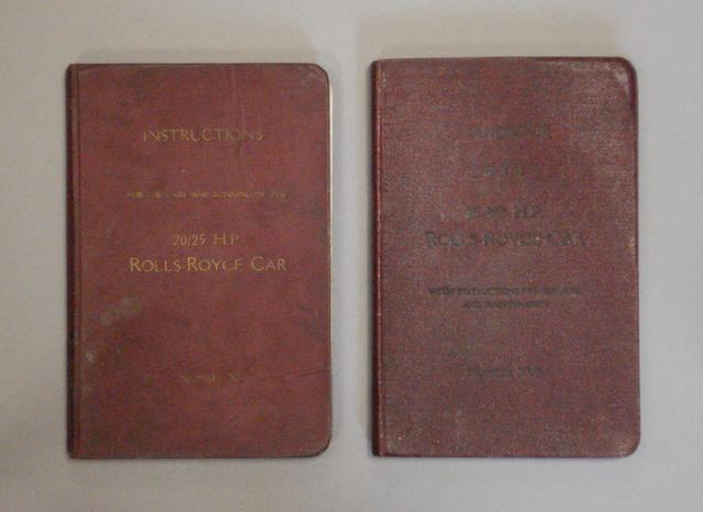 Two examples of pre war Rolls-Royce technical literature,
