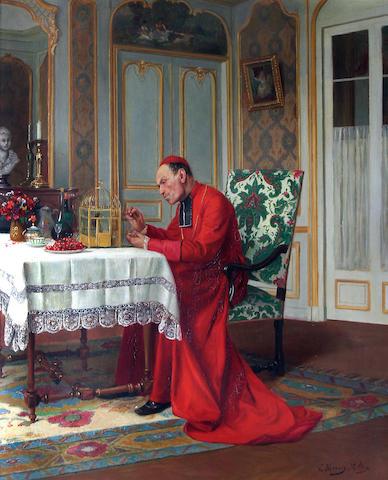 Victor Marais-Milton (French, 1872-1948) 'His pet',