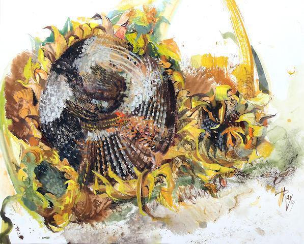 """Ray Howard Jones (British, 1903-1996) """"Resurgent"""", study for 'Sunflowers from the Hays',"""