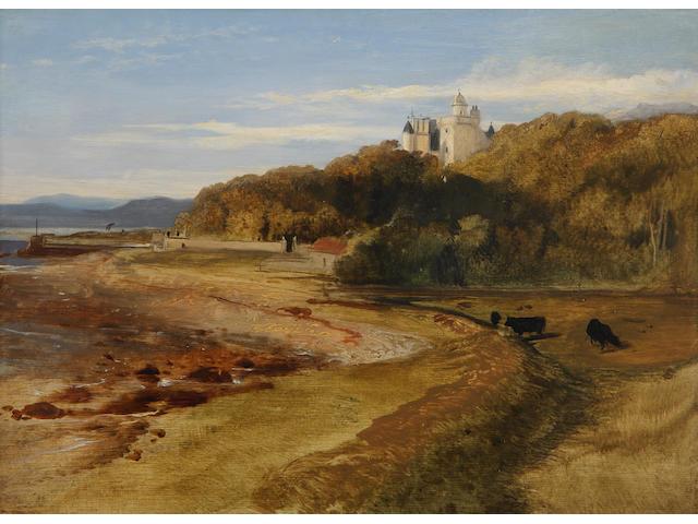 Sir Edwin Landseer, R.A. (British, 1802-1873) Landscape with Dunrobin Castle (c1835)