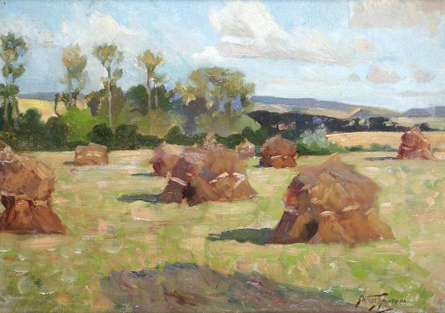 "Arthur Spooner (British, 1873-1962) ""Harvest Fields"","