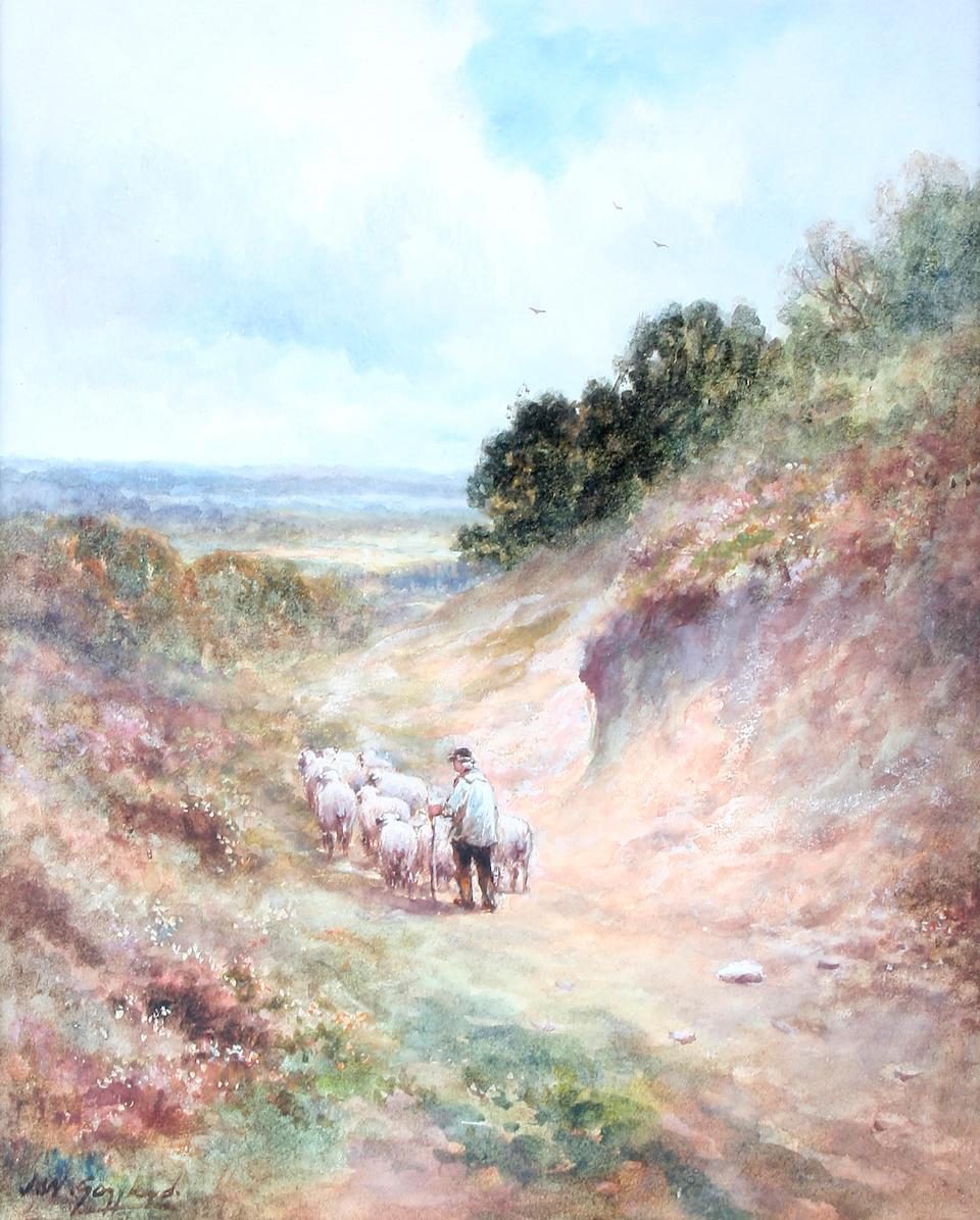 "James Walter Gozzard (British, 1888-1950) ""Rural England"", and ""The Farm Pond"", a pair,"