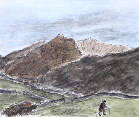 Sir Kyffin Williams, R.A. (British, 1918-2006) Snowdon from Llanllyfni,
