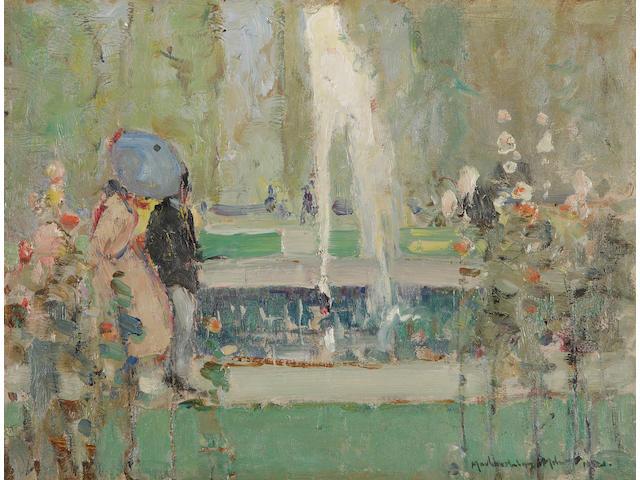 John MacLauchlan Milne, RSA (British, 1886-1957) The Tuileries