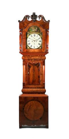 A mahogany-cased eight-day painted dial longcase clock, mid-19th Century J Charlton, Houghton, circa 1850