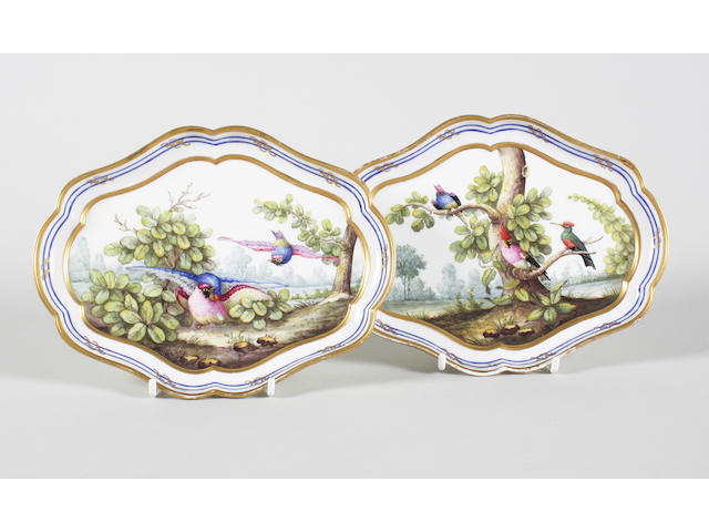 A pair of Sèvres-style dishes Late 19th century