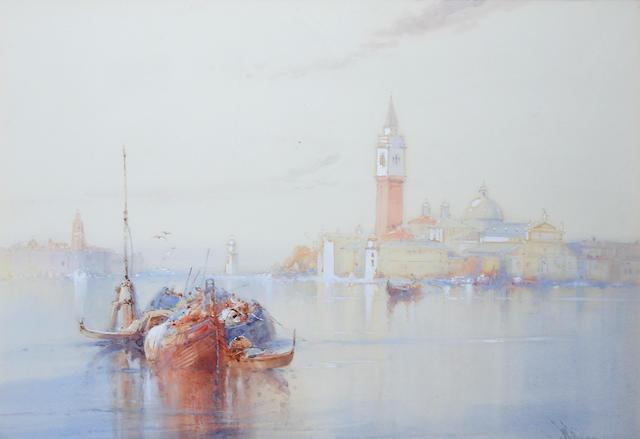 Wilfred Knox, R.B.A. (British, 1884-1966) View across the Venetian Lagoon, to San Giorgio Maggiore,