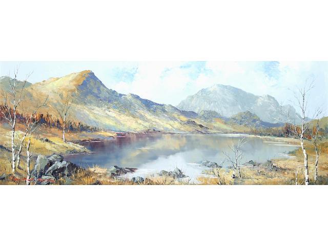 """Charles Wyatt Warren (British, 1908-1983) """"Llyn y Gader and Mynydd Mawr"""","""