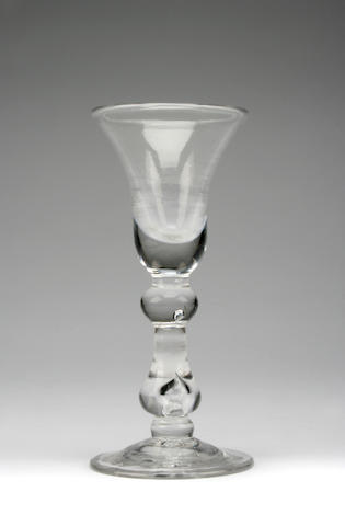A baluster wine glass Circa 1730